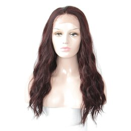 """$enCountryForm.capitalKeyWord UK - Quality 99J Synthetic Wigs Natural Wave Long Heat Resistant Kanekalon Lace Front Wigs With Baby Hair 1.5*13.5"""" Lace Wigs For Women"""