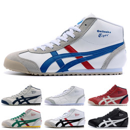 Asics running shoes for womAn online shopping - Asics Onitsuka Tiger High Running Shoes For men women Top Quality Stripe Balck White Blue Designer Shoes Sport Sneakers