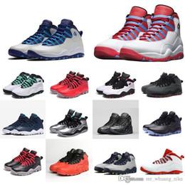 613777834a09ae Mens retro 10s basketball shoes Powder Blue Bobcat Chicago Charlotte NYC  New York Rio Paris j10 aj10 Jumpman 10 X sneakers boots with box