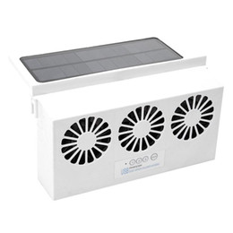 fan powered Canada - Car Fan Solar Window Sun Powered Car Auto Air Vent Cool Cooling System Radiator Fan Cooling Energy Saving