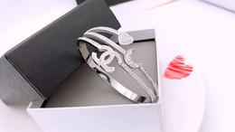 Clawed stones online shopping - New Fashion Shinning Full CZ Stone Men Women Trendy Bracelet L Stainless Steel Luxuries Brand Love Bracelet Bangle Jewelry
