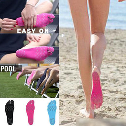 $enCountryForm.capitalKeyWord UK - Adhesive Shoes Waterproof Foot Pads Stick On Soles Flexible Feet Protection Sticker Soles Shoes For Beach Pool Free shipping