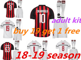 $enCountryForm.capitalKeyWord NZ - adult AC Milan kit Football uniform HIGUAIN soccer jersey 2018 2019 home AWAY ROMAGNOLI CALHANOGLU BONAVENTURA adult football shirt suite