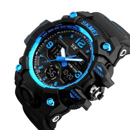 China Skmei New Fashion Men's Outdoor Big Dial Waterproof Multifunction Sport Wristwatch Military Watches Premium Electronic Watches suppliers
