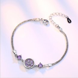 Cute korean braCelets online shopping - Lucky Four Leaf Flower Bracelet Women s Silver Plated Jewelry Dream Round Round Cute Fashion Wild Korean Bracelet