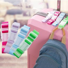 security suitcases luggage Australia - Button Buckle Adjustable Security Portable Bag Parts Suitcase Bag Hanger Luggage Strap Aircraft Travel Accessories Supplies