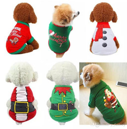 $enCountryForm.capitalKeyWord Australia - Christmas Costume Pullover Hoodies Dog Clothes Pet Dog Cat Costume Shirt Sweater For Santa Snowman Belt Casual Clothes