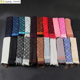 Chenfei3 A931 alta calidad de la celebridad de algodón y cachemira bufanda Mujer Moda impresión de la letra las bufandas del abrigo del mantón 140 * 140cm en venta
