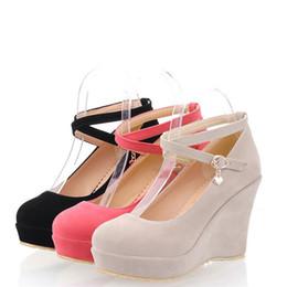 51ac52b8d12 Sweet Lolita Shoes Australia - Spring   Autumn Sweet Lolita Girl Criss  Cross Strap Faux Suede
