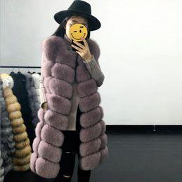$enCountryForm.capitalKeyWord Australia - Clobee Women Faux Fur Coats 2019 Elegant Sexy Ladies Winter Wear Luxury Retro Faux Fur Long Vest Feminino Plus Size S-3XL FD86