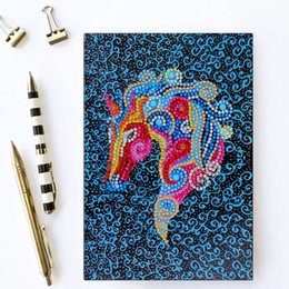 $enCountryForm.capitalKeyWord Australia - Zooya Diy colorful horse 5d Special Diamond Painting Notebook Diamond Embroidery Notebook Diamond Mosaic A5 Diary Book Picture Gift NB47