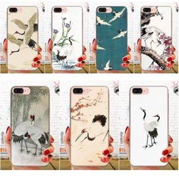 huawei 4c honor UK - Custom For Huawei Honor 4C 5A 5C 5X 6 6A 6X 7 7A 7C 7X 8 8C 8S 9 10 10i 20 20i Lite Pro Soft Skin Paintin Crane