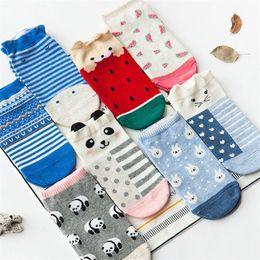 $enCountryForm.capitalKeyWord Australia - 1 Pair Cute Casual Women Girl Socks Low Cut Ankle Socks Cotton Cartoon Pop Fashion Wild Shallow Mouth Invisible