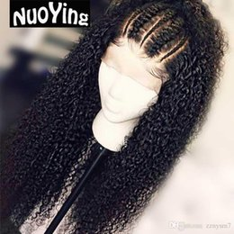 $enCountryForm.capitalKeyWord Australia - Curly Human Hair Wigs Malaysia Remy Full Lace Front Human Hair Wigs Thick Ends With Baby Hair Bleached Knots Slove Rosa VF74