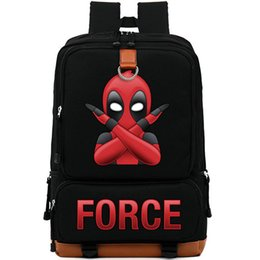 c9ba5e17143 Red Computer Backpack NZ - X force backpack Deadpool day pack Funny gesture  school bag Cool