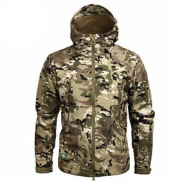 multicam zipper Canada - Clothing Autumn Men 'S Military Camouflage Fleece Jacket Army Tactical Clothing Multicam Male Camouflage Windbreakers New Wonderful