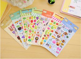 Cute Phone Stickers Australia - Best selling free shipping Cute cartoon animal bubble sticker mobile phone decorative sticker diary sticker student 001