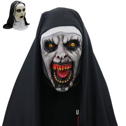 $enCountryForm.capitalKeyWord Australia - The nun mask Costume Latex Prop Helmet Halloween Scary Horror Conjuring Scary Toys Costume Props wholesale