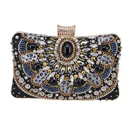 Carpet Bags Australia - Black Crystal Beaded Clutch Bags Cheaper red carpet Purse Female Wedding Bride