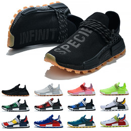 Men size 47 running shoes online shopping - Human Race Men Women Running Shoes Pharrell Williams HU Runner White Black Yellow Red Green Grey Blue Sport Sneaker Size Sale Online