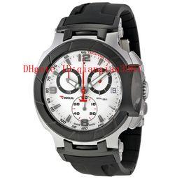 Men Sports Racing Watch UK - G2Free Shipping Men\'s T048 Quartz Watch T048.417.27.037.00 T-Sport T-Race MotoGP Black White Dial CHRONOGRAPH T0484172703700 Rubber luxury brand