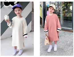 $enCountryForm.capitalKeyWord Australia - spring and autumn hot-sale products new Girl's Knit fashion trend Children's wear base shirt Pure color design long sleeve 2colour