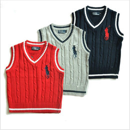 Knit vest girls online shopping - 2019 new arrival baby boys sweater children cotton knit vest V neck tops spring and autumn girls blouse kids clothing winter infant clothes