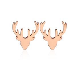 $enCountryForm.capitalKeyWord UK - Antlers Earring for Women Girls Design Earrings Deer Horn Antlers Stainless steel Earrings