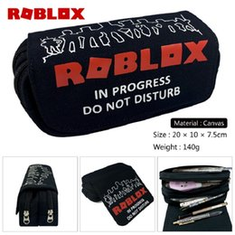 $enCountryForm.capitalKeyWord Australia - 5 Styles Roblox Pencil Bags Canvas Pen Case Kids School Stationery Large Capacity Purse Bag Action Figure Toy Child Gift Wallet