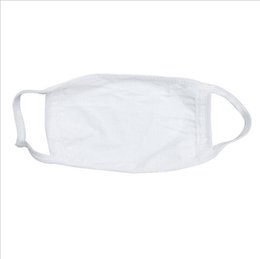 Dust Mask Filters UK - White Cotton Blends Earloop Face Mouth Mask, Anti-dust Cotton Mouth Face Masks Mouth Cover for Men and Women, Dust Filter Sanitary