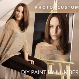 Discount personality photos - CHENISTORY Photo Custom Diy Painting By Numbers Personality Picture Customized Paint By Numbers Gift Acrylic Coloring