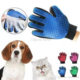 pet hair removal products Canada - 2018 Pet hair glove Comb Pet Dog Cat Grooming Cleaning Glove Deshedding left Right Hand Hair Removal Brush Promote Blood Circulation