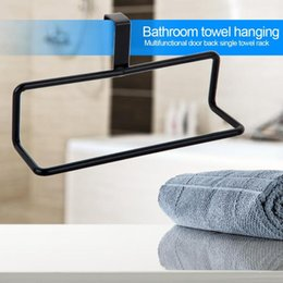 rod bathroom Canada - Door-Hanging Towel Rack Single Rod Nail-Free Duster Cloth Kitchen Shelves
