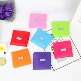 Venta al por mayor de 15 colores Bolso de almacenamiento amigable con el medio ambiente Plegable Usable Bolsas de compras Reutilizable portátil Supermercado Teléfono de nylon Bolsa grande