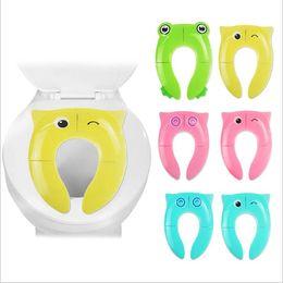 Toptan satış Bebek Lazımlık Koltuk Kapak Baykuş Çizgi Klozet Kapağı Mats Katlanır Klozet Kapağı Yastık Bebek Yardımcı Tuvalet Pad Seyahat Tuvaletler Eğitim B7557