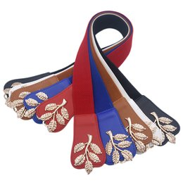 $enCountryForm.capitalKeyWord UK - Elastic Leaves buckle belts for women PU leather waist chain belts for ladies dress female women fashion 2018 high quality