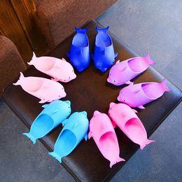 Kids Summer Flip Flop Wholesale Canada - Baby dolphin flip flop 2019 summer Fashion Kids Slipper children girls boys shoes Beach sandals A-774
