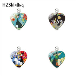 $enCountryForm.capitalKeyWord Australia - 2019 New Fashion Glass Round Cabochon Colorful Cats Pendants Rosina Wachtmeister Cats Silhouette Cats Charms Jewelry