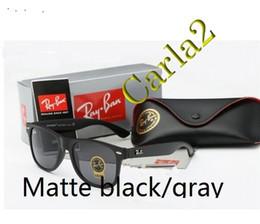 aca9e5a99 2019 Hot Wayfarer Sunglasses RAYS Men Women 54mm Brand Cat Eye Sun Glasses  Bands BEN Mirror Gafas de sol Bans with box and cases 19 colors