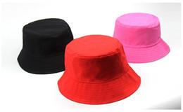 9ead66cb45b Travel Fisherman Leisure Bucket Hats Solid Color Fashion Men Women Flat Top  Wide Brim Summer Cap For Outdoor Sports Visor