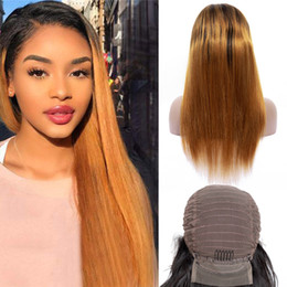 $enCountryForm.capitalKeyWord Australia - Indian Virgin Hair 1B 30 Silky Straight Human Hair Mink Two Tones Color 1B 30 Lace Front Wig 13X4 Lace Front Wigs 10-28inch