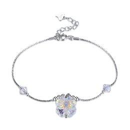 $enCountryForm.capitalKeyWord Australia - Crystal Charm Bracelets Swarovski Elements Simple Single Crystal Sterling Silver Bracelet Fashionable S925 Silver Birthday Gifts POTALA184