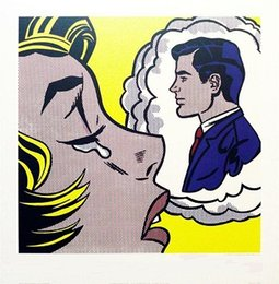 "Classical Portrait Painting Australia - Roy Lichtenstein ""Thinking of Him"" High Quality Hand Painted & HD Print Portrait Wall Art Oil Painting On Canvas Home Decor Multi sizes Ry20"