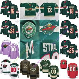 Hockey jersey suter online shopping - Custom Minnesota Wild Jersey Matt Dumba Zucker Jared Spurgeon Greenway Fehr Brodin Granlund Parise Suter Staal Koivu Men Women Youth