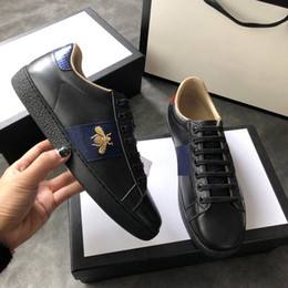 Discount casual green shoes for mens - Luxury brand for Mens Luxury Designer Casual Shoes Triple White Black Ace Bee Tiger Womens Fashion Sport Tennis Leisure
