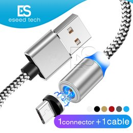 samsung magnet usb cable 2019 - 3 in 1 Magnetic suction Charger Cable LED Nylon Stronger Metal Magnet Cord 1M Android Micro USB Type C cable For Samsung