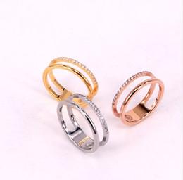$enCountryForm.capitalKeyWord Australia - Ring openwork double layer 21 diamonds couple ring fashion rose gold ring 0719