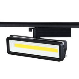 $enCountryForm.capitalKeyWord UK - Fanlive 8PCS COB 50W LED Track Lamp Modern Minimalist Spotlight For Clothing Store Shop Track Rail Light AC220V