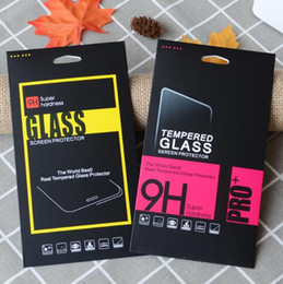 iphone black screen oem NZ - Black Empty Retail Package Boxes Packaging for Premium Tempered Glass Screen Protector for iphone XR XS Max X 8 Plus Samsung Xiaomi OEM