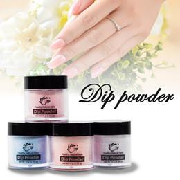 $enCountryForm.capitalKeyWord Australia - wholesale 4pcs lot Nail Dip Powder Set Glitter Diping Powder Nails Healthy Color, Nail Art Powder, Natural Dry Nail Salon 10g Box